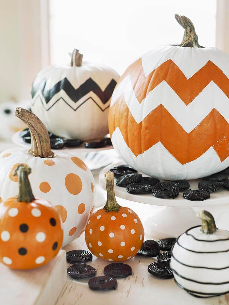 28 best no carve pumpkin decorating ideas and designs for 2017. Black Bedroom Furniture Sets. Home Design Ideas