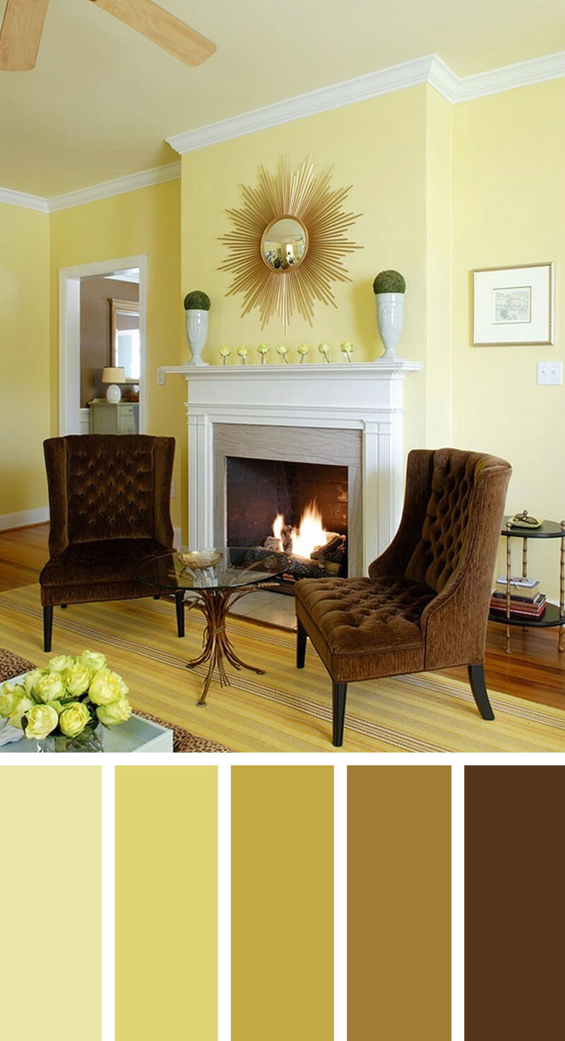 11 best living room color scheme ideas and designs for 2017 for Living room yellow color