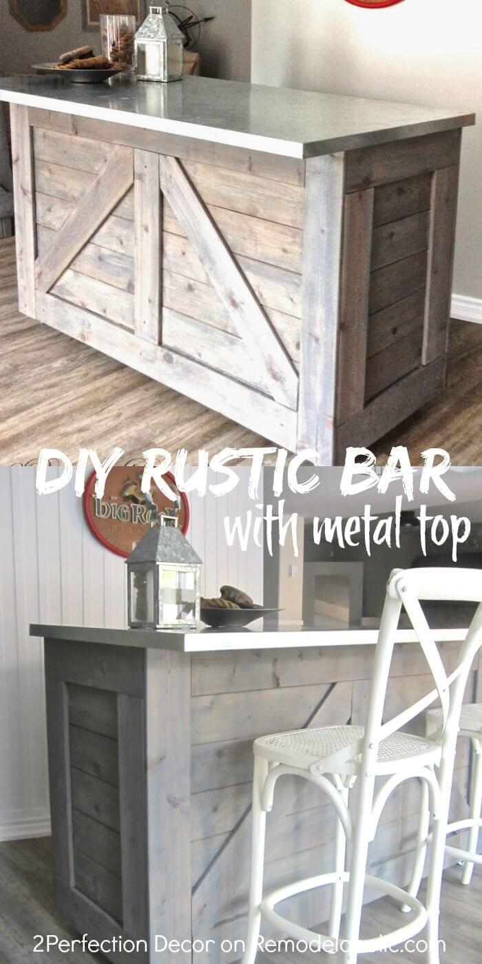 Combine Rustic with Practical in this DIY Bar