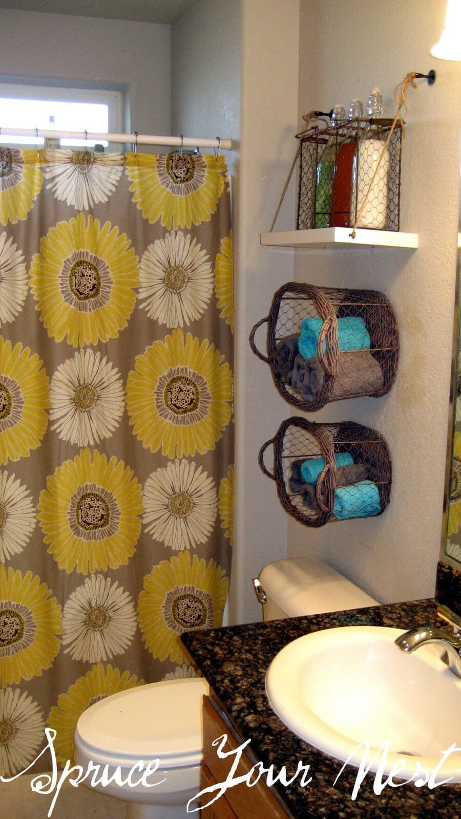 Bathroom Shelf Decor Over Toilet Farmhouse