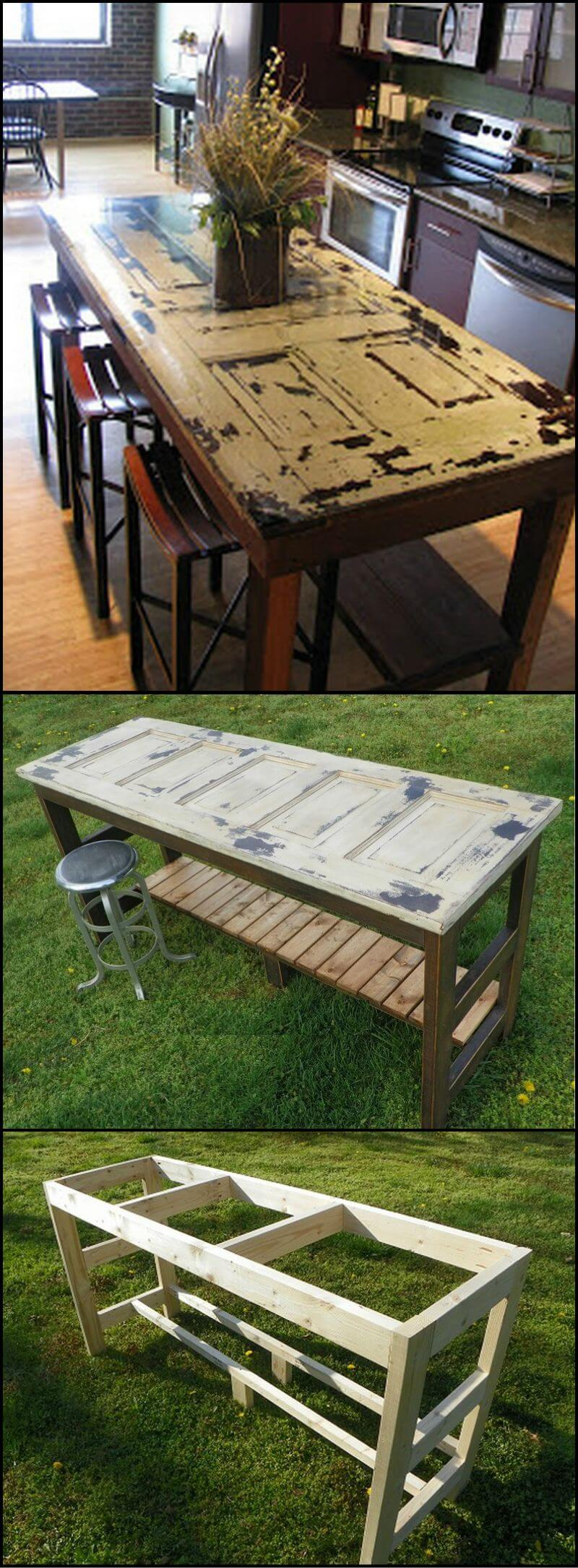 Upcycled Door Doubles as Eating and Workspace