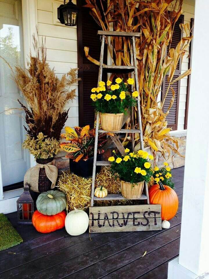4. Front Porch Harvest Décor Glory