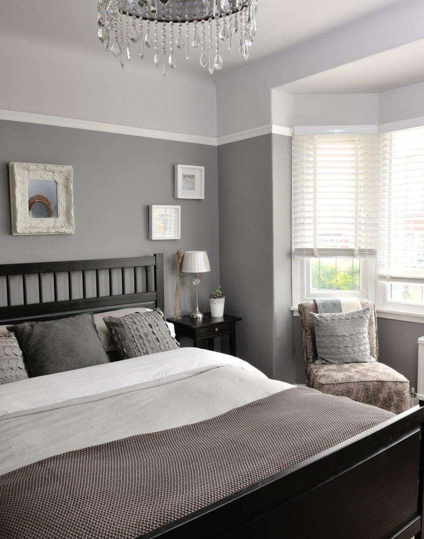 fascinating grey room bedroom inspiration | A Structured Gray Bedroom Idea for a Stunning ...