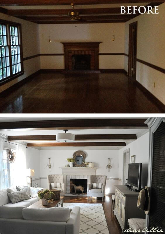 Before And After Living Room Renovations Hgtv