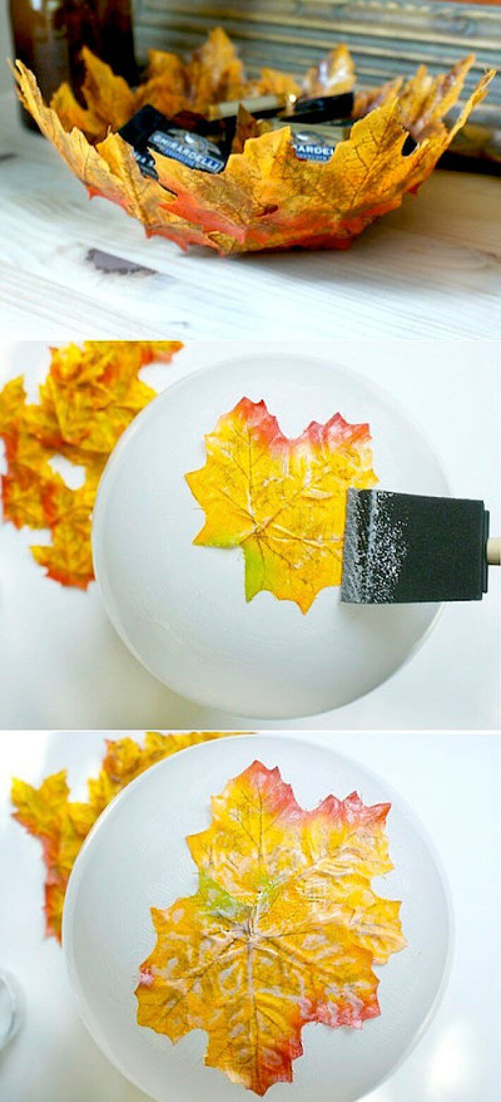 DIY Fall Foliage Party Favor Bowl