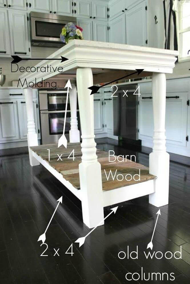 Simply Stunning Woodwork Kitchen Island