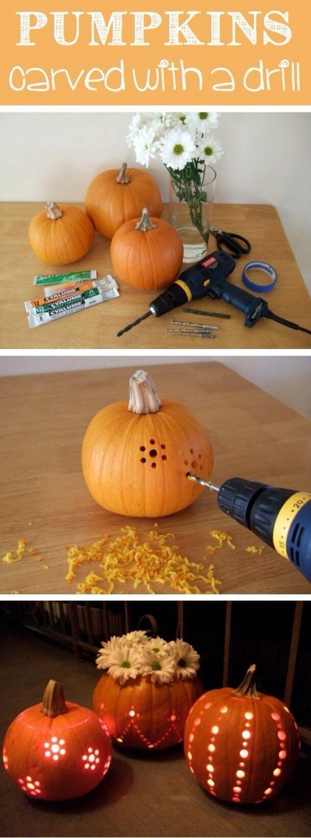 Carve Your Pumpkins With A Drill