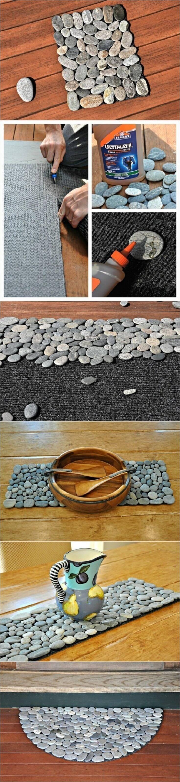 27 Kreative Heimwerkerideen mit Kieselsteinen und Flussfelsen, die eine gute Verwendung für Ihre Steinsammlung finden