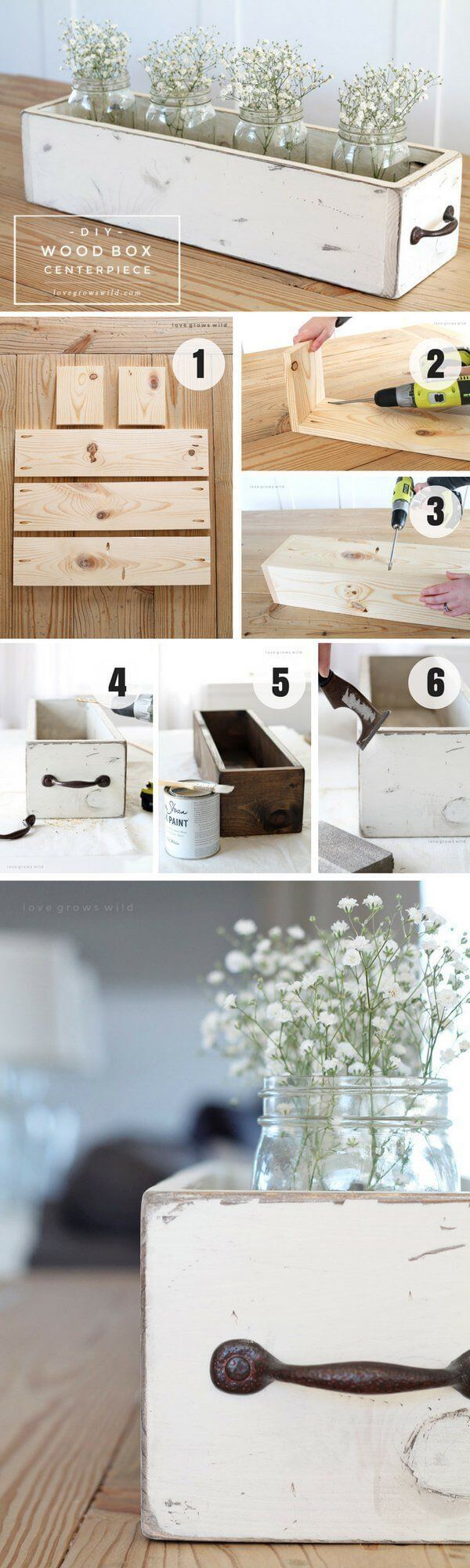 Drawer Transformed into Centerpiece Container