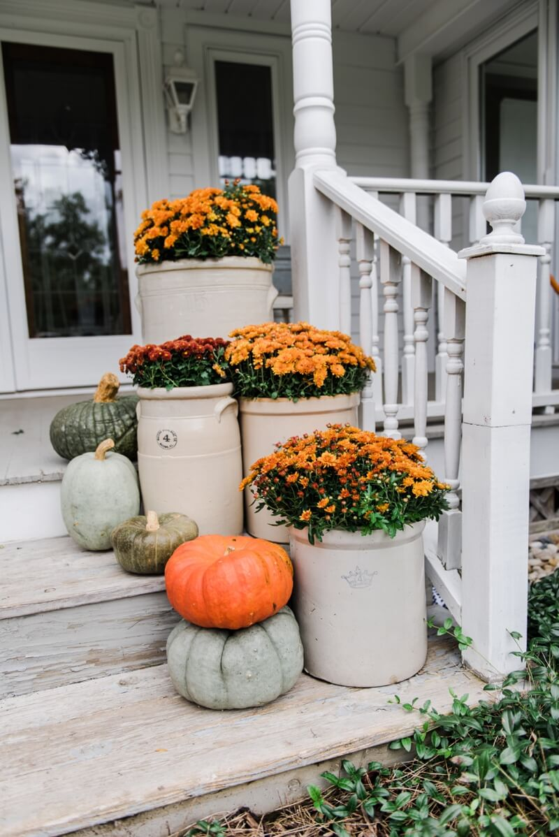 Cheerful Marigolds Light Up this Porch