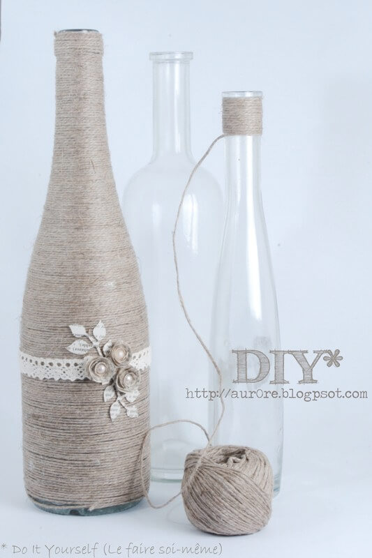 DIY Wine Bottle Party Favors