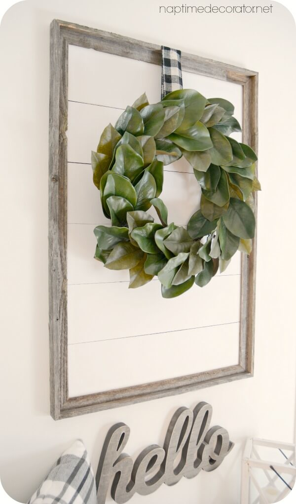 Framed Farmhouse Welcome Wreath