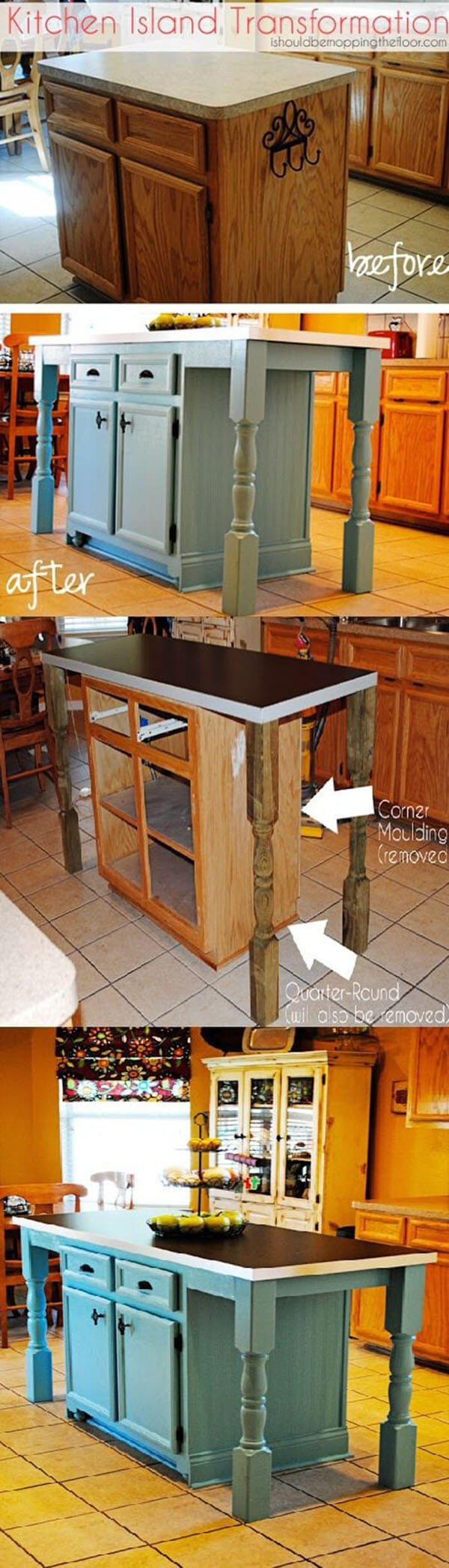 cheap kitchen island ideas. Expand On An Existing Kitchen Island Cheap Ideas