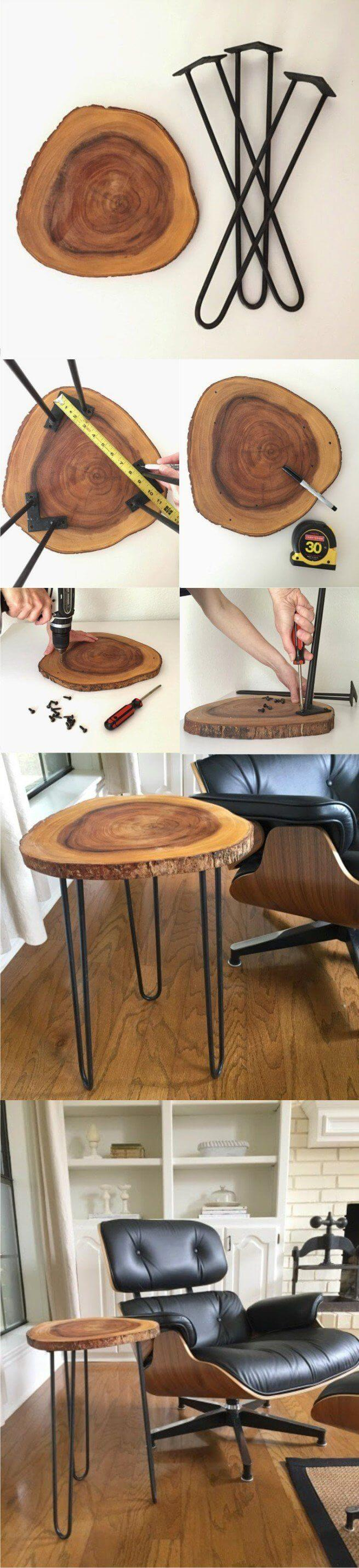 9 modern yet rustic side table - Wood Craft Ideas