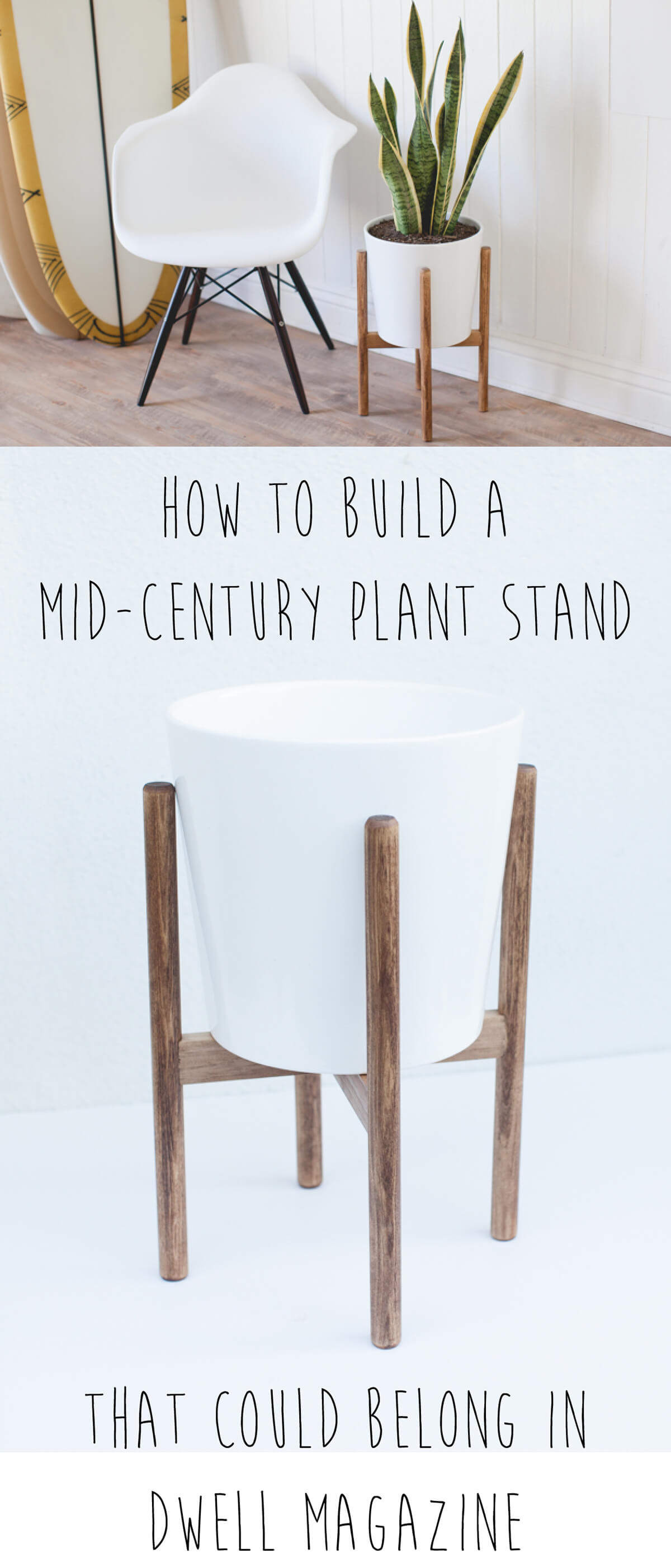 Handmade Mid-Century Plant Stand