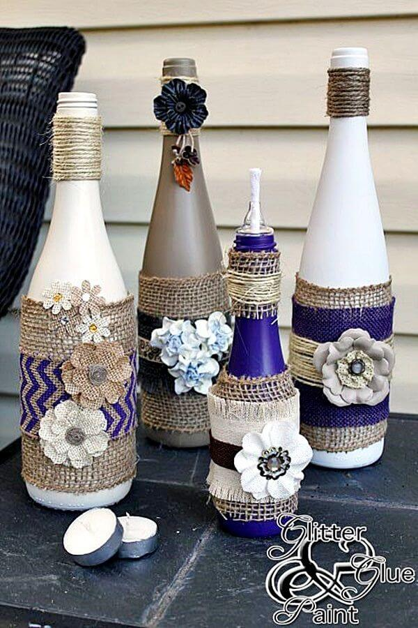 Wine Bottles in Full Bloom