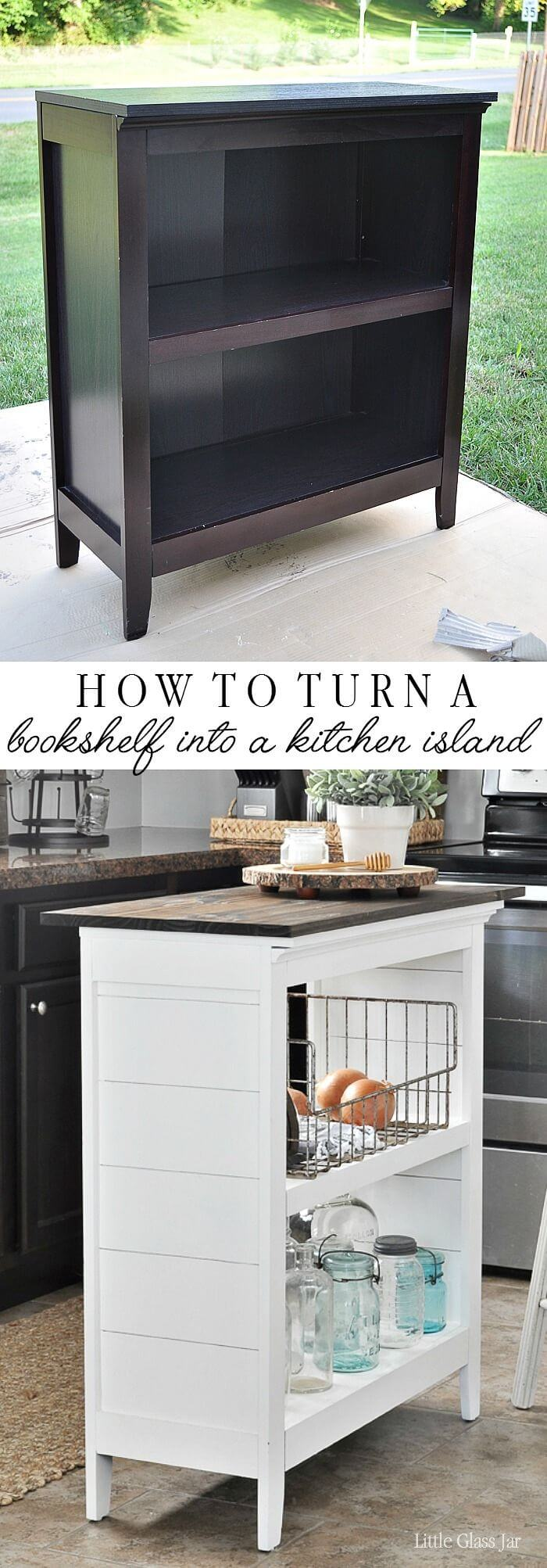 Give an Old Bookshelf a New Life as an Island