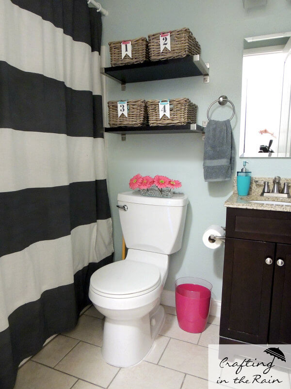 Individual Family Bathroom Storage Baskets