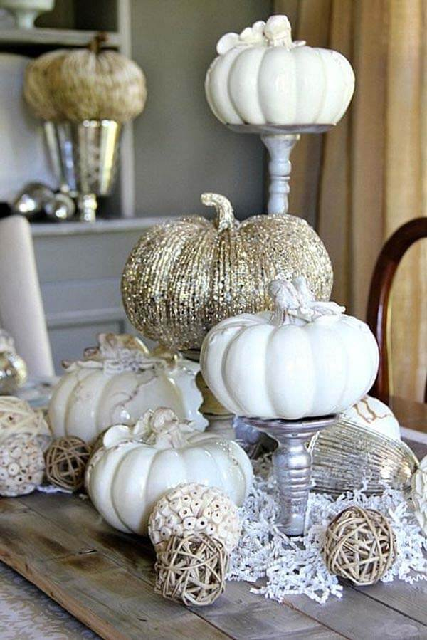 Silver and White are Autumn's Delight