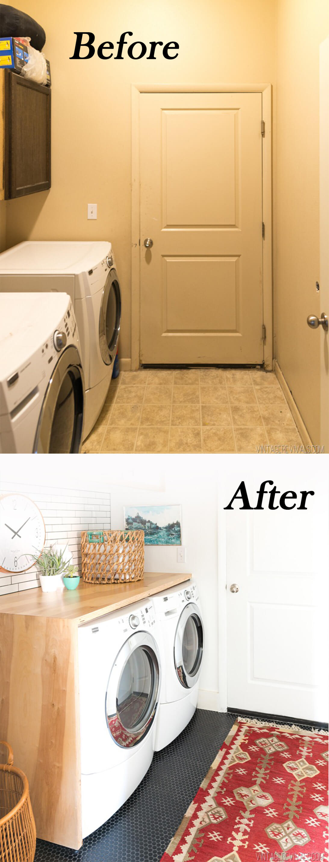Laundry Room Makeover Before And After Closet Doors