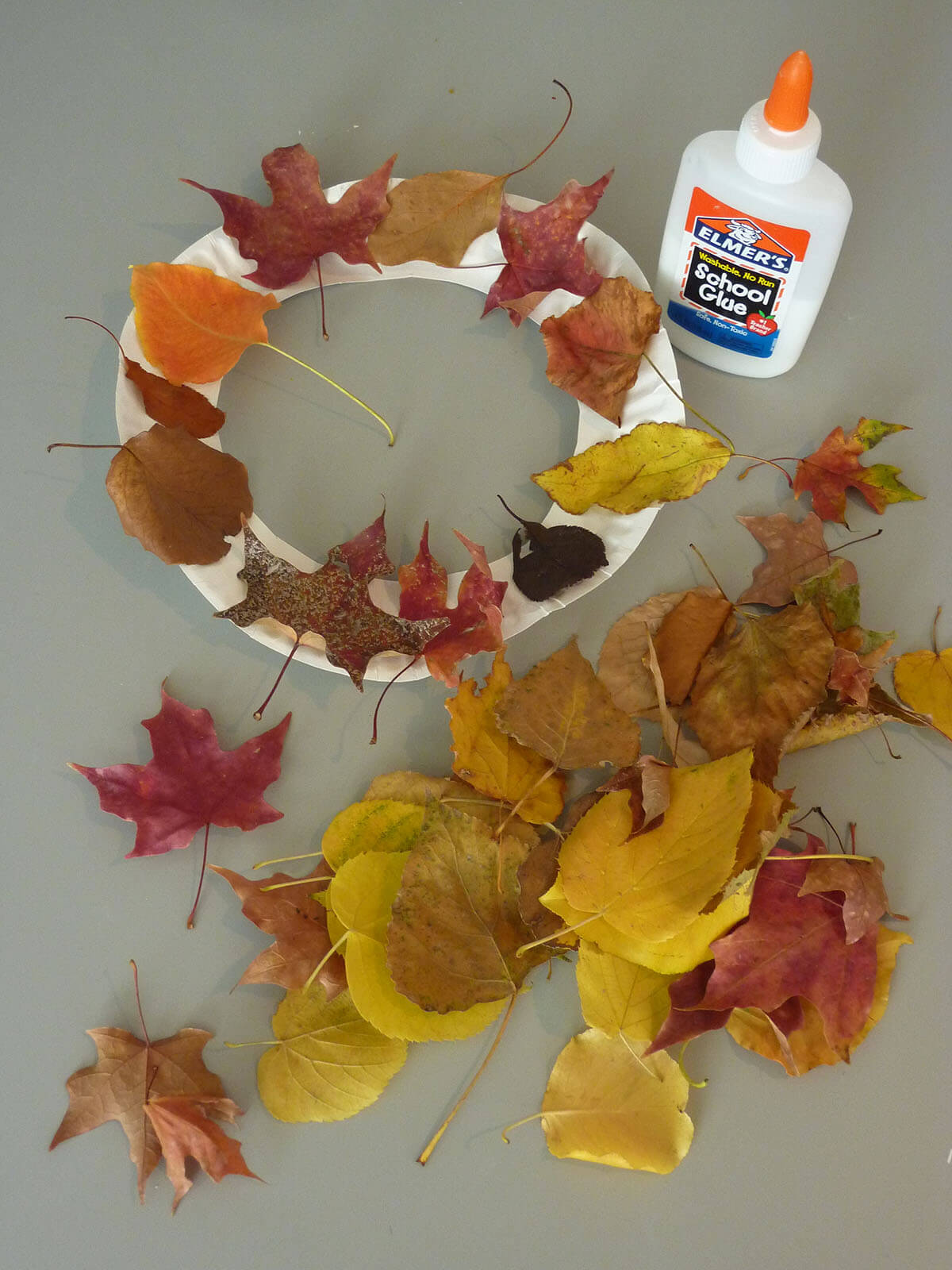 Easy Enough for Kids Leaf Wreath Craft