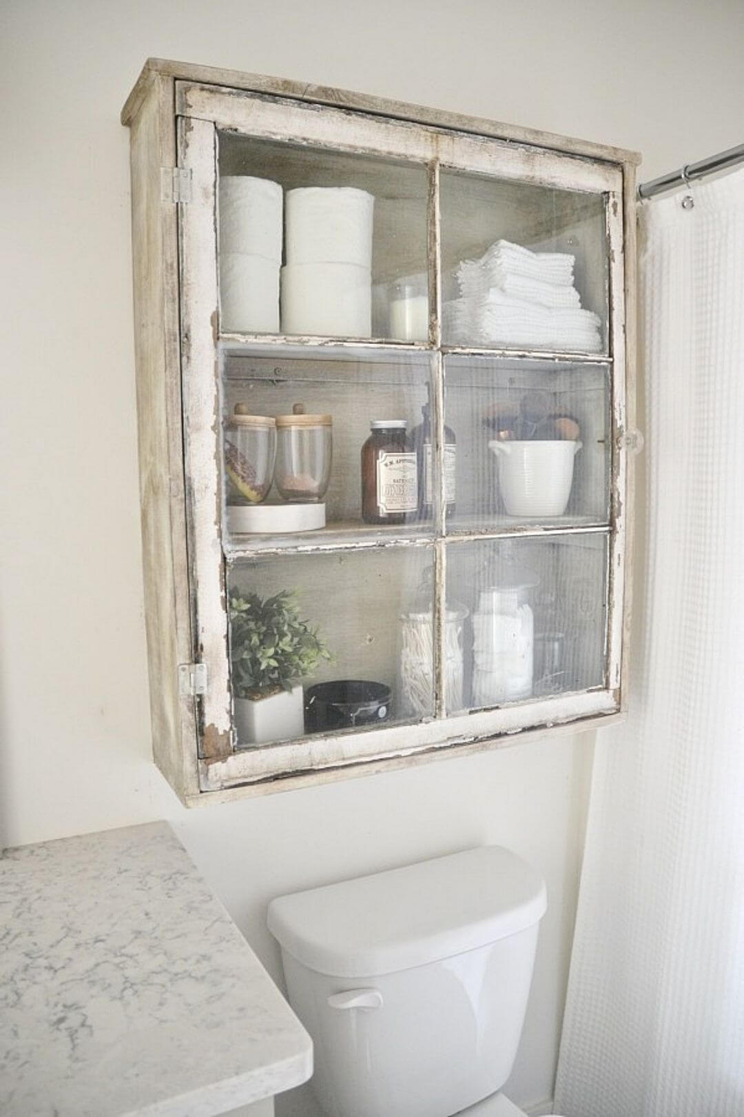 Upcycled Over-Toilet Bathroom Storage Cabinet