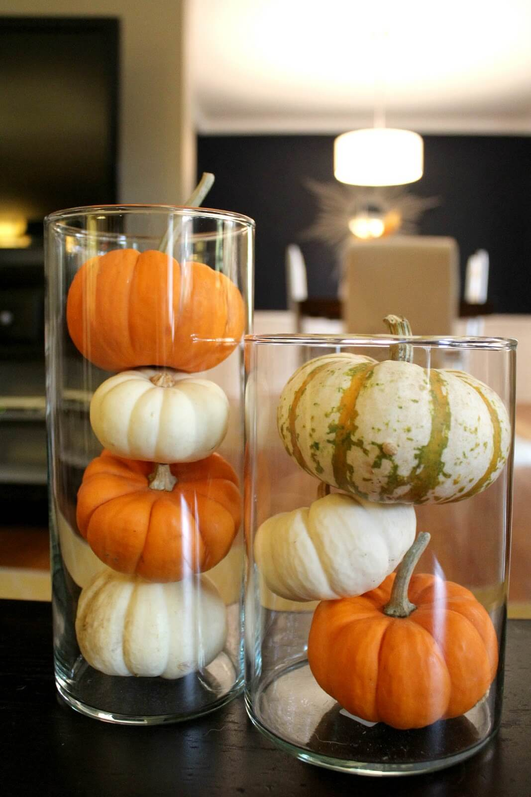 Clear Vases Highlight Pumpkin Color