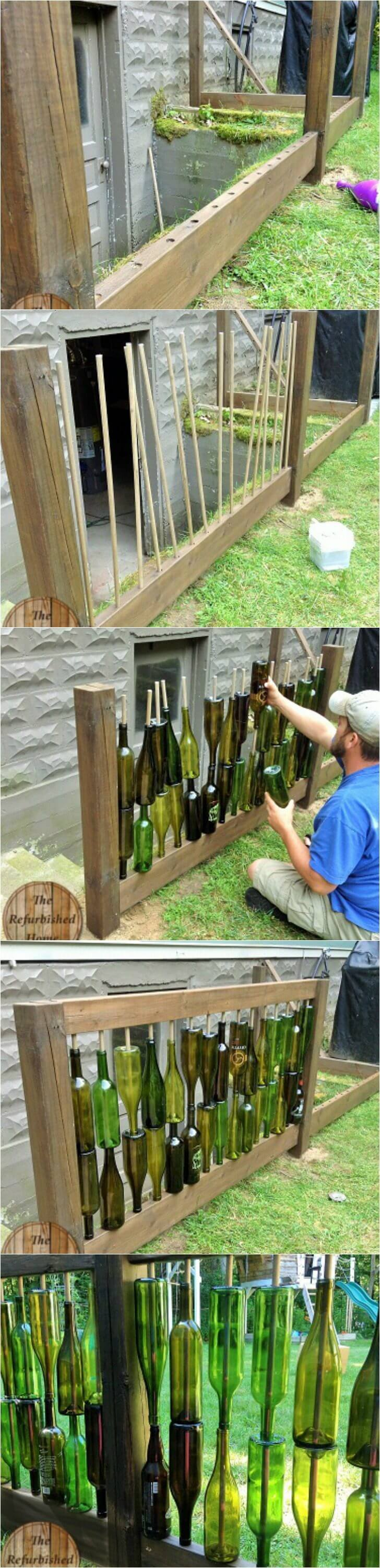 A DIY Wine Bottle Backyard Centerpiece