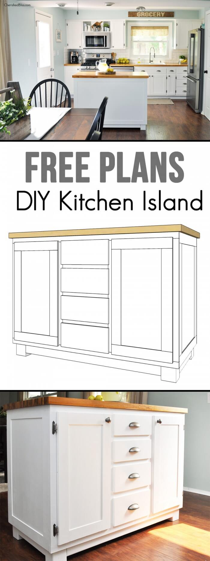 23 best diy kitchen island ideas and designs for 2018 - Kitchen design tutorial ...