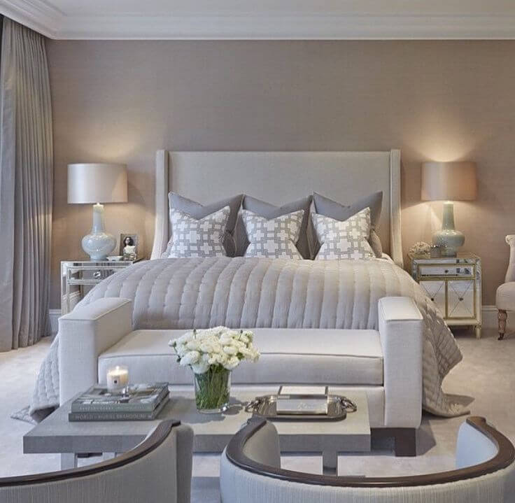 Warm Beige and Gray Neutrals Create an Inviting Atmosphere in this ...