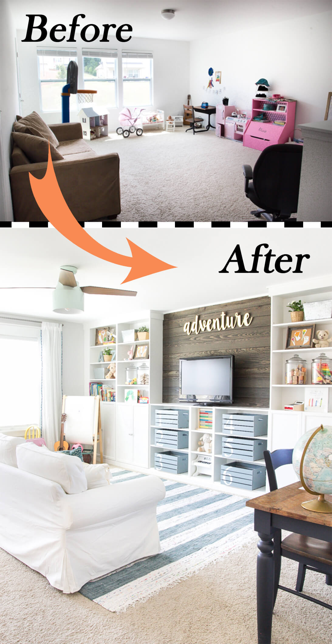 A Modern Family Living Room Makeover