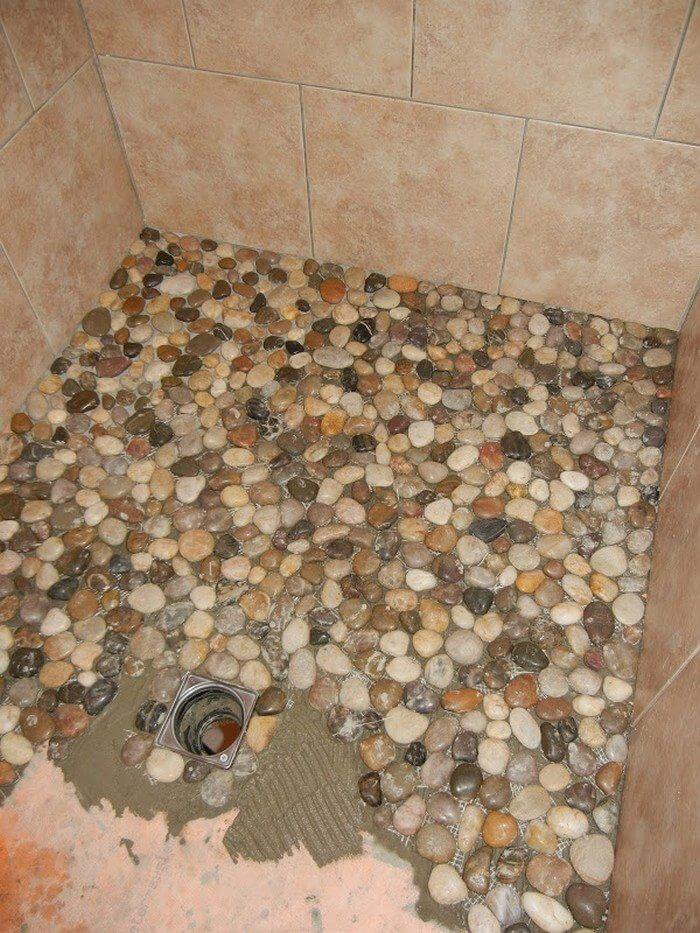 Bring the Outdoors Indoors With This Stone Shower Tiling