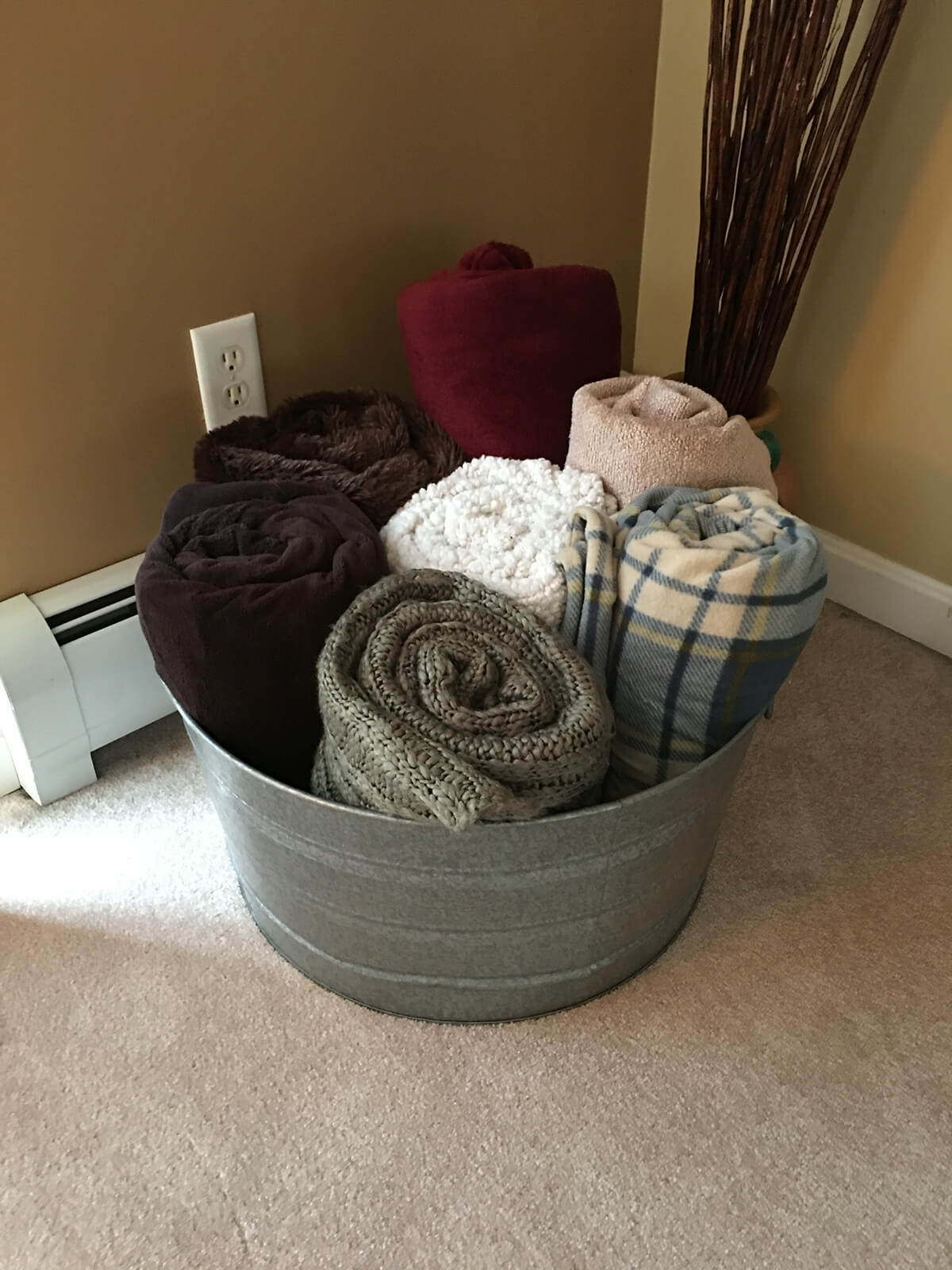 Keep Towels Organized in Water-Proof Bucket