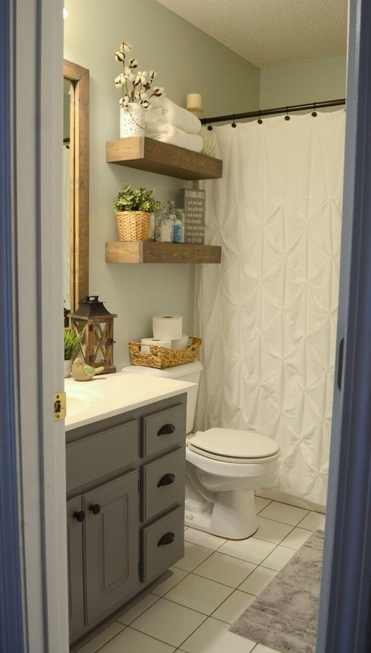 Bathroom storage over toilet