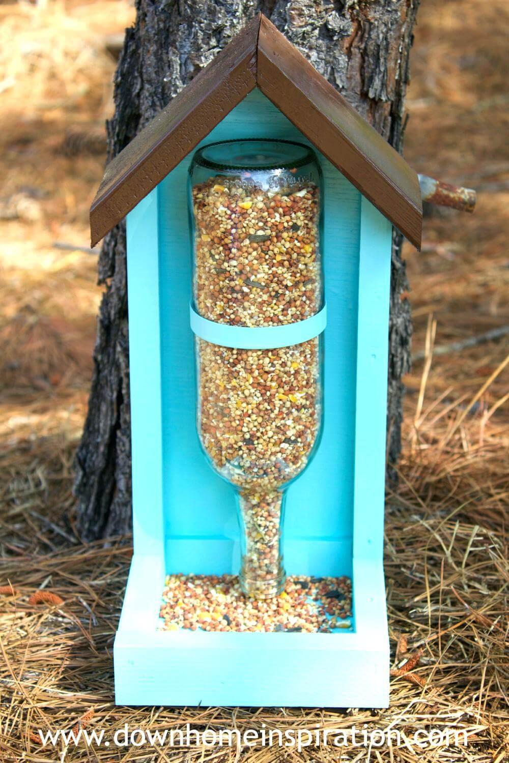 Cheap and Creative Bird Feeder from Wine Bottle