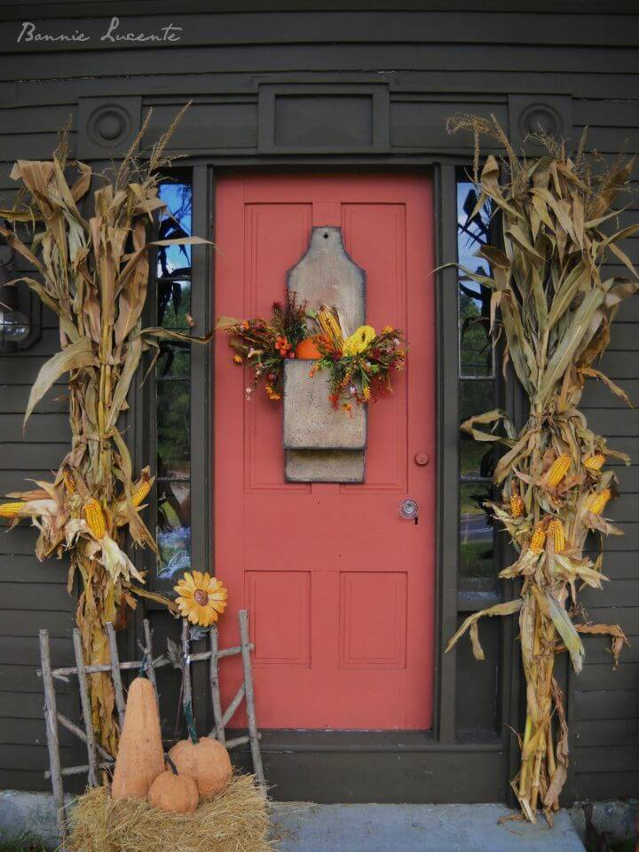 Fall Harvest Front Door Decor