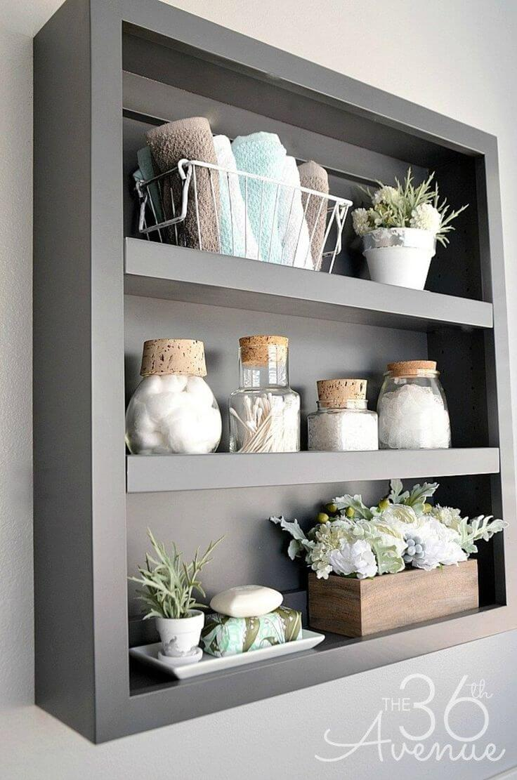 Simple Shadow Box Bathroom Organizer