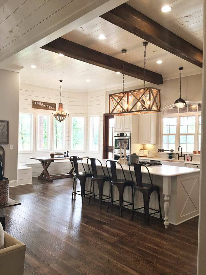 Before And After This Renovated Ranch Kitchen Beautifully Blends Rustic With Modern: 27 Best Rustic Shiplap Decor Ideas And Designs For 2019