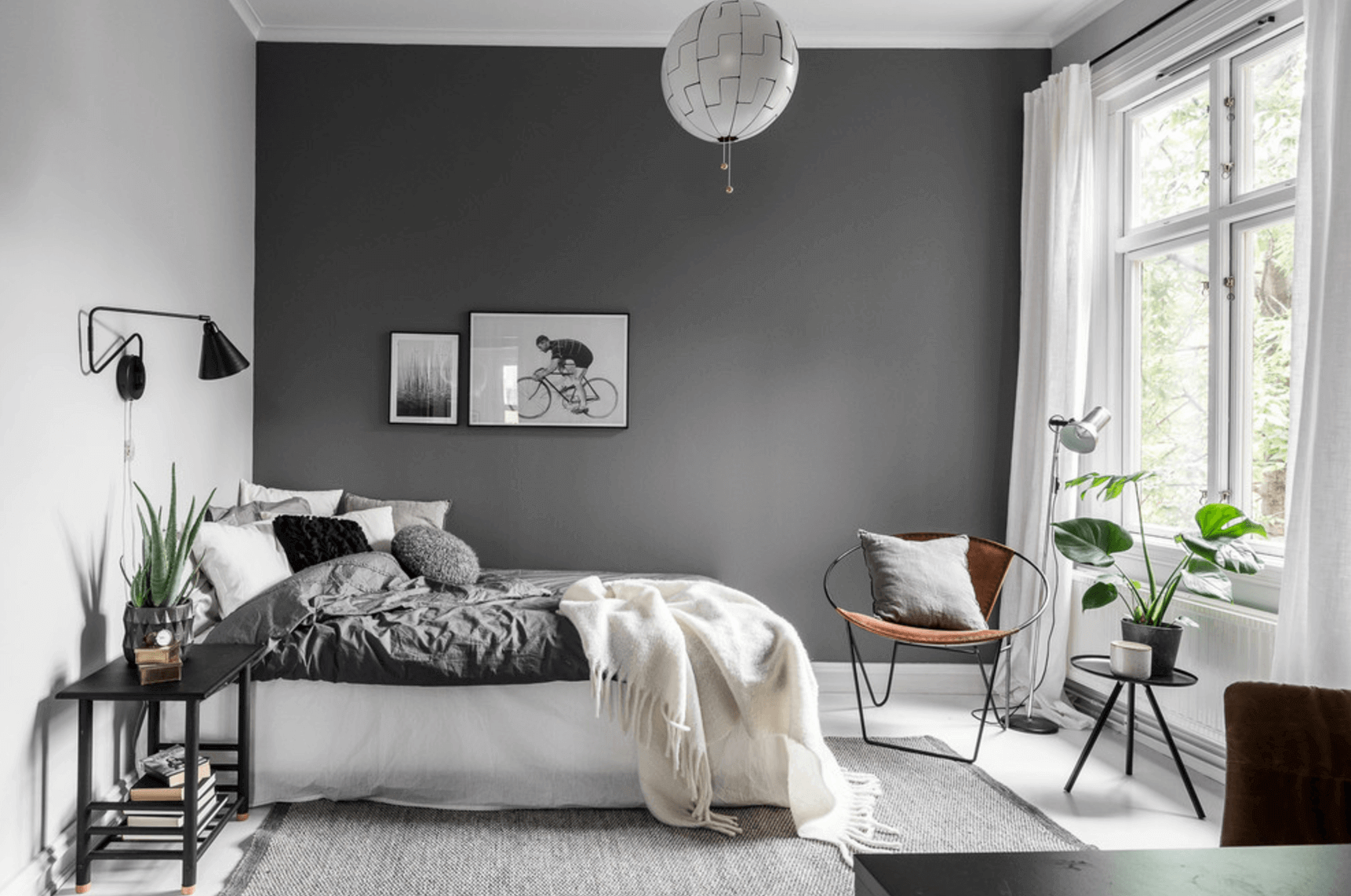 minimalist dcor is the perfect statement in this grey bedroom ideas - Grey Bedrooms