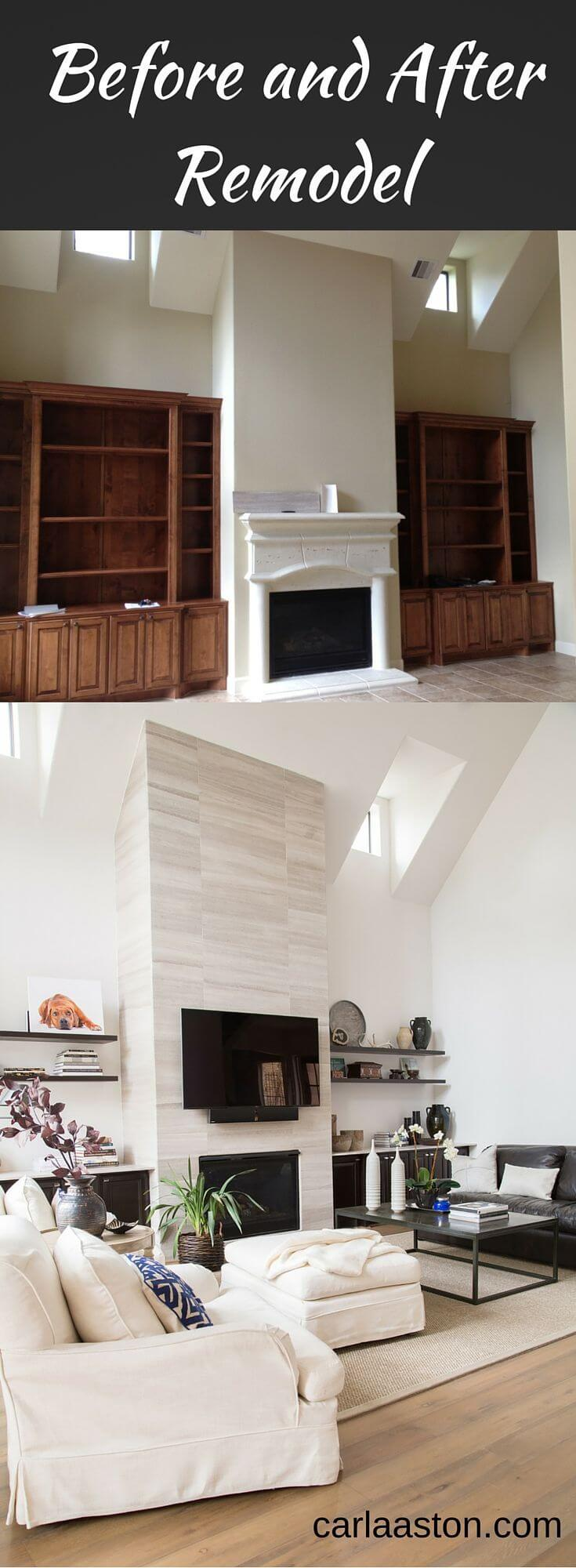 26 best budget friendly living room makeover ideas for 2017 - Living room remodel before and after ...