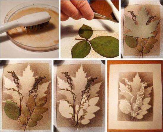 Elegant Layered Leaf Silhouette Art