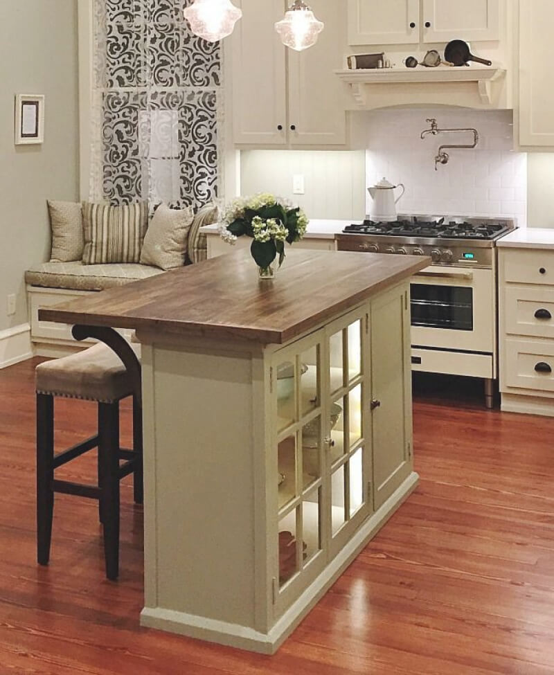 32 Simple Rustic Homemade Kitchen Islands: 23 Best DIY Kitchen Island Ideas And Designs For 2019
