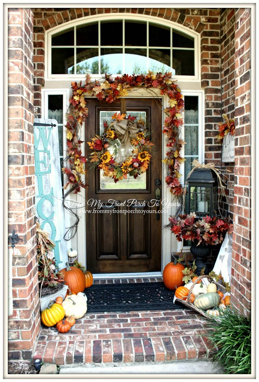 Pretty Fall Wreath and Garland