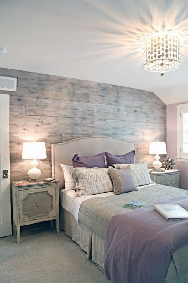Incroyable Textures And Soft Lavender Color Pops Set The Mood In This Gray Bedroom