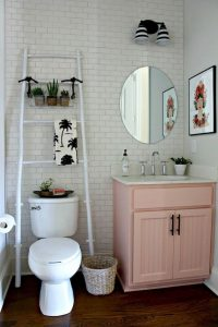 Over The Toilet Ladder Organizer