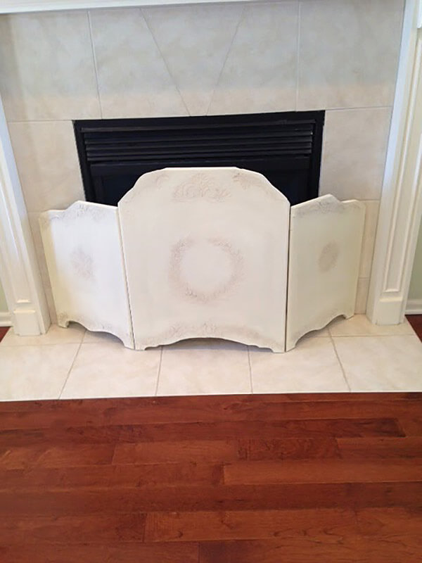 Shabby Chic Wooden Fireplace Screen