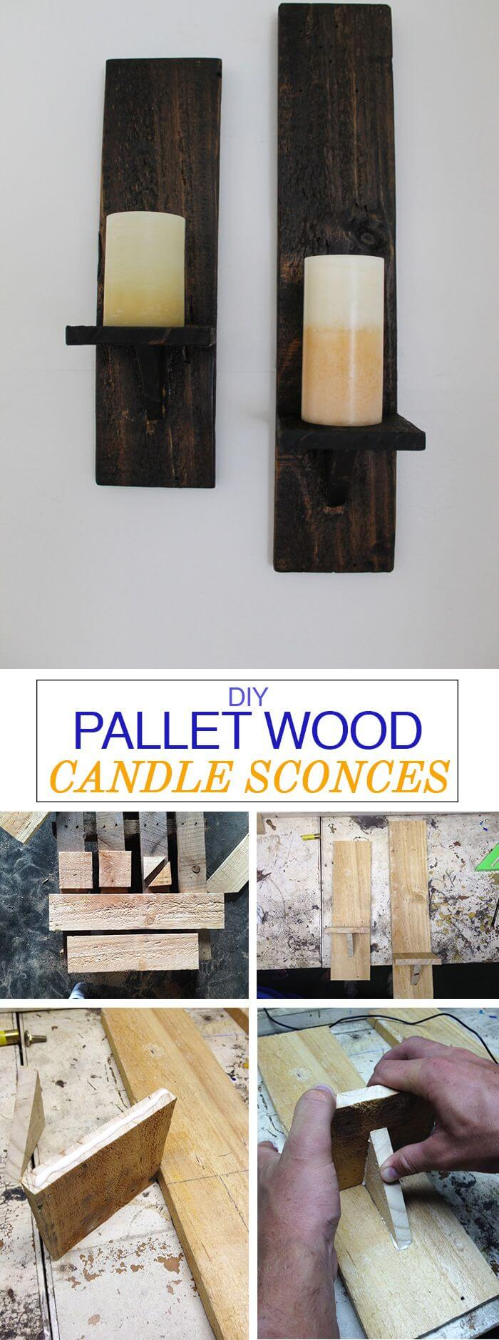 Pallets Make Great Candle Sconces