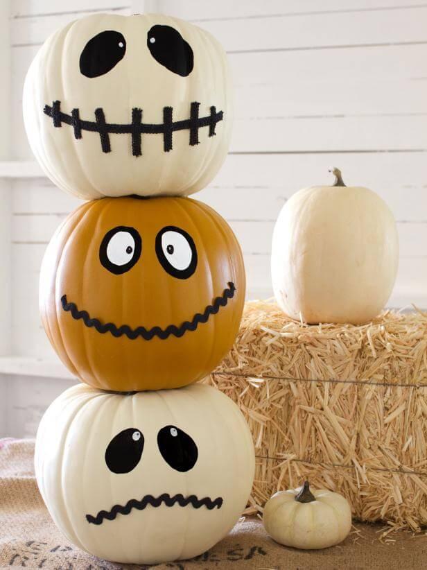 28 Best No Carve Pumpkin Decorating Ideas and Designs for 2017 : 27 no carve pumpkin decorating ideas homebnc from homebnc.com size 616 x 822 jpeg 52kB