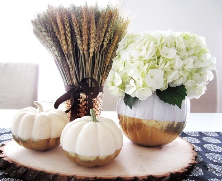 Two Tone Pumpkins Make Perfect Centerpieces