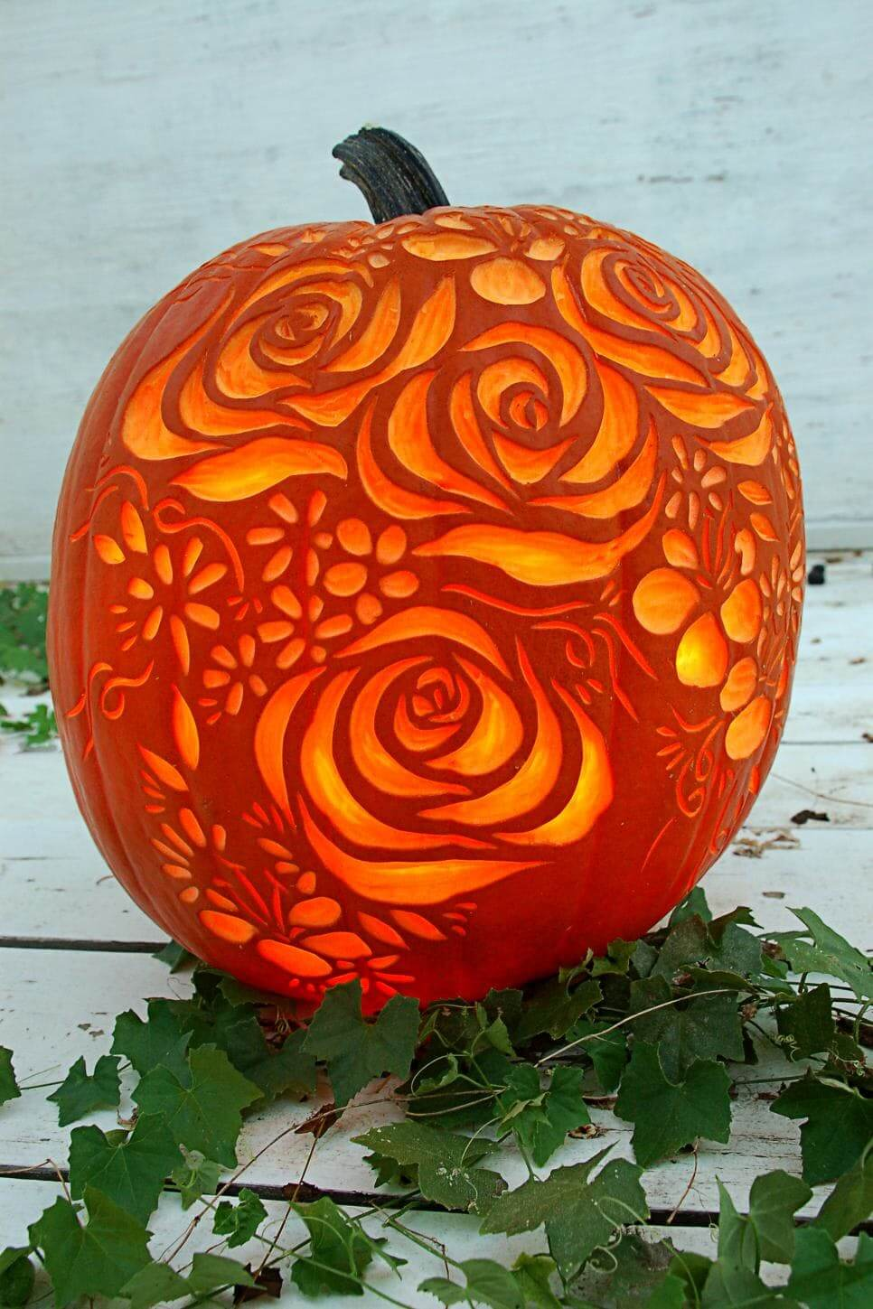30 rose petals - Carving Pumpkin Ideas